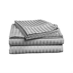 Queen size 4-piece Sheet set in Grey Polyester Microfiber