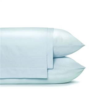 King size 100% Cotton Sheet Set Pleated in Powder Blue