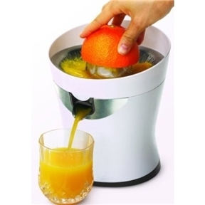 White Electric Citrus Juicer with Stainless Steel Screen