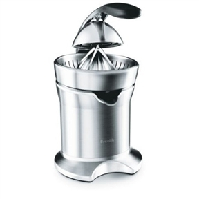 Breville Die-Cast Stainless Steel Motorized Citrus Press Juicer