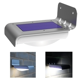 Set of 2 - Bright LED Solar Powered Wireless Motion Sensor Light