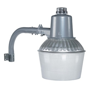 Outdoor 150-Watt Floodlight with Low-Light Sensor in Aluminum
