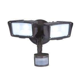 Motion Activated Energy Star LED 2-Head Floodlight Outdoor Security Light