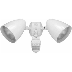Outdoor Security 2-Light LED Floodlight with 360 Degree Motion Sensor