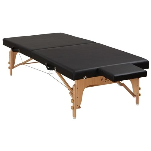 Black Portable Folding Low Profile Massage Table with Carry Handle