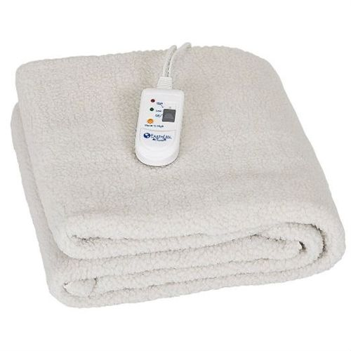 Beige Fleece Massage Table Warmer Electric Blanket with Corner Straps 30 x 72 inch