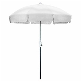 7.5 Foot Patio Umbrella with Push Button Tilt in White Olefin