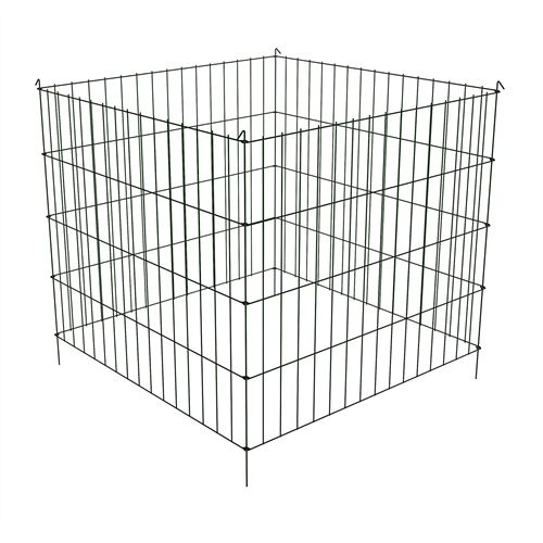 Steel Metal Wire 3-ft Compost Bin in Green - Make your own Garden Soil at Home