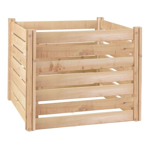 Outdoor 174-Gallon Wooden Compost Bin made from Eco-Friendly Cedar Wood