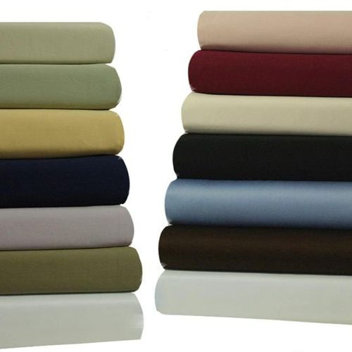 Attached Waterbed Sheets Solid 450 Thread Count
