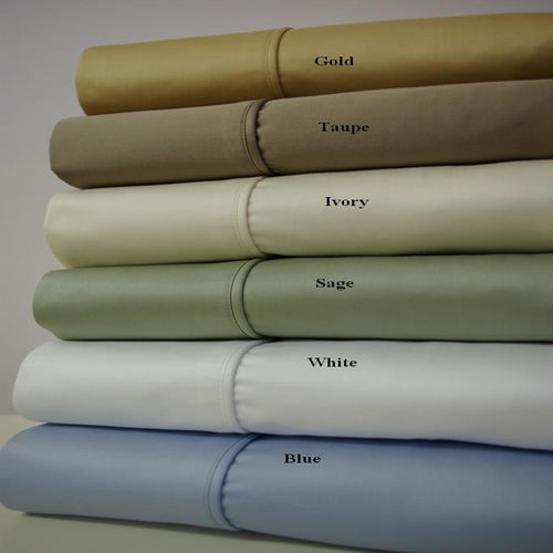 Un Attached California King Waterbed Sheets Solid 1000Thread Count