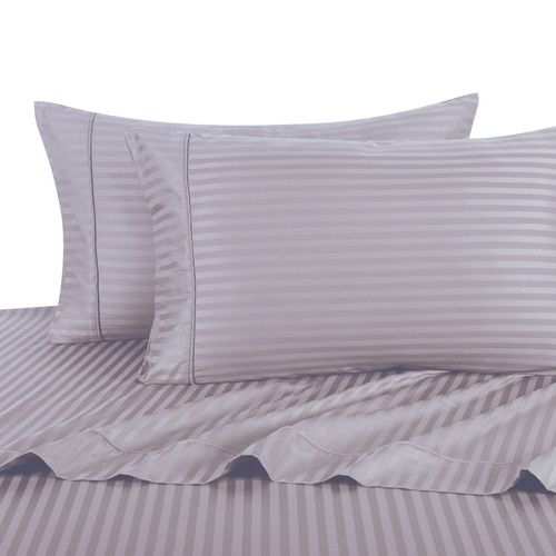 300TC DAMASK STRIPED COMBED COTTON SHEET SETS
