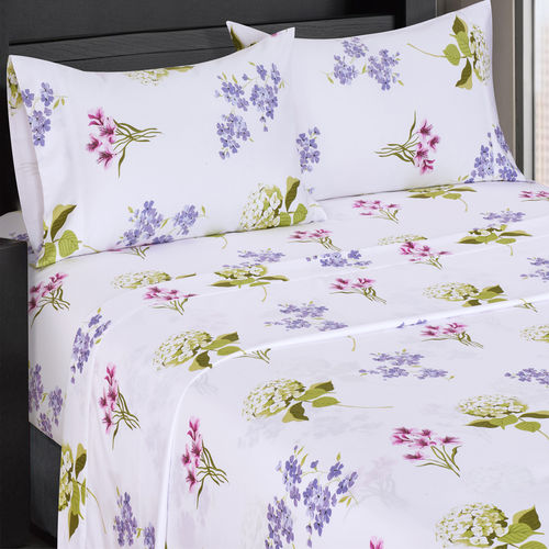 SPLIT KING BLOSSOM 300 THREAD COUNT 100% COTTON SHEET SETS