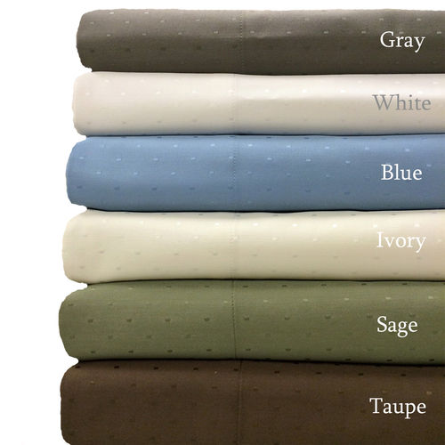 Pillowcases Woven Dots 600 Thread Count Combed Cotton