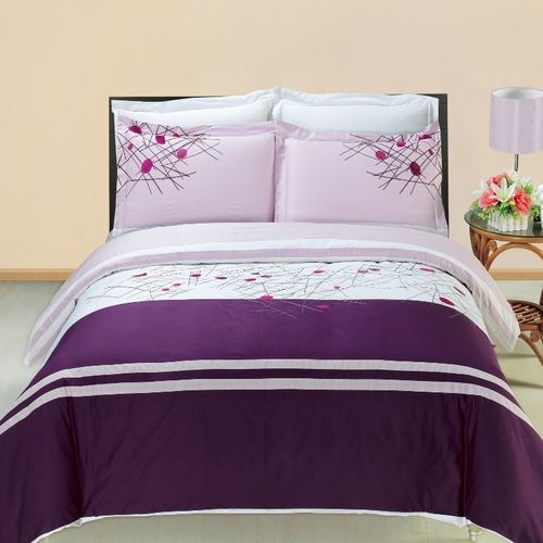 Cherry Embroidered Multi-Piece Duvet Set