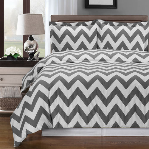 Chevron Duvet Cover 100% Combed Cotton