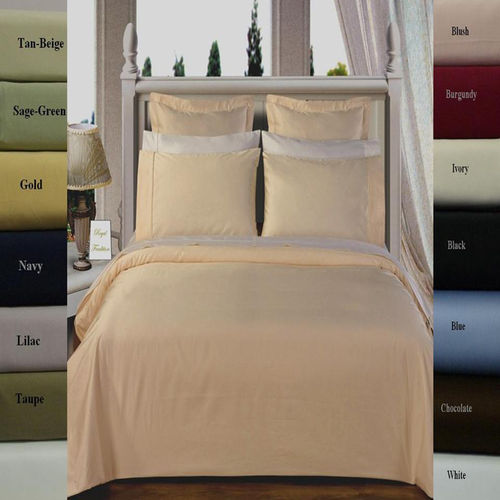 Combed Cotton 450 Thread Count Solid Duvet Covers Set