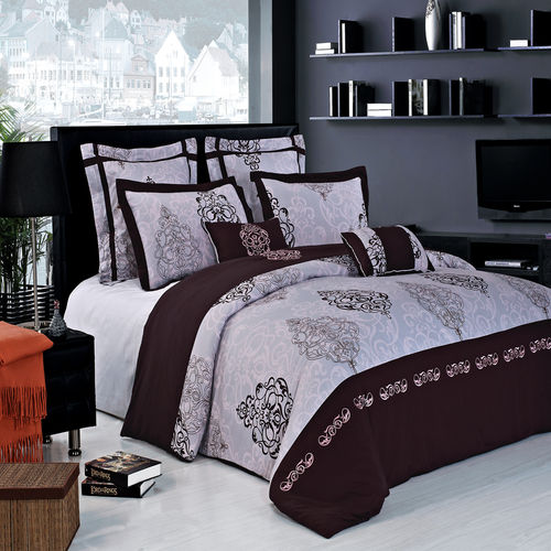 Gizelle 100% cotton Embroidered 7pc Duvet cover Set