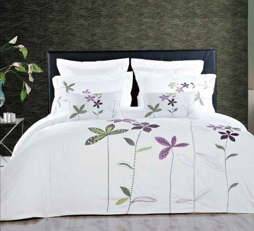 South Garden 5 Piece Embroidered Duvet Cover Set