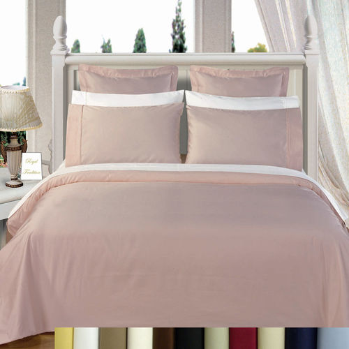 600TC 100% Combed Cotton Solid Multi-Piece Duvet Cover