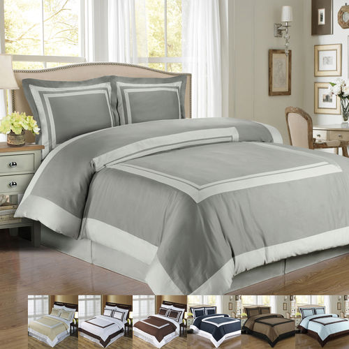 100% COMBED COTTON HOTEL DUVET COVER SET