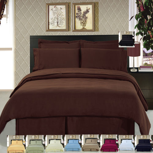 Microfiber Solid 3-Piece Duvet cover set