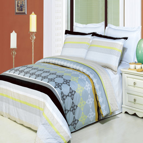 South Gate Printed 3-Piece 100% cotton Duvet Cover Set