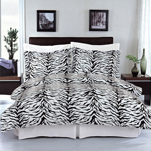 Zebra Duvet Cover Set image Zebra 100% Combed cotton Duvet cover set