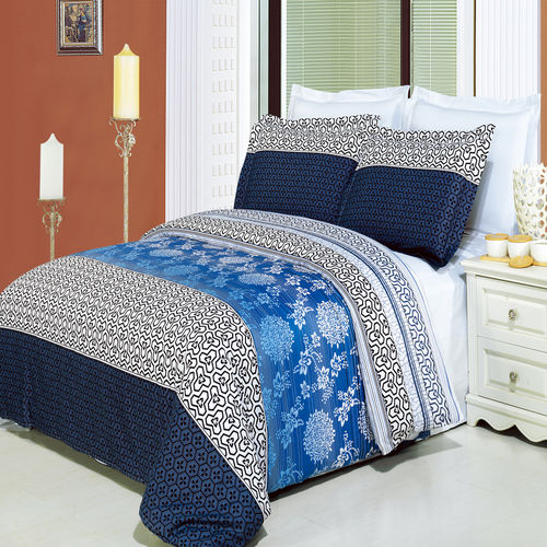 Lydia Printed Combed cotton 3-Piece Duvet Covers Set