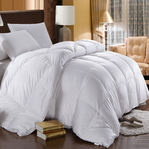 Winter Weight Oversized White Goose Down Comforter 500TC