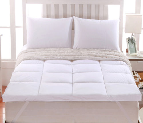 2 Inch Thick Abripedic™ Comfort Mattress Topper 100% Cotton Shell, White Alternative Down fill