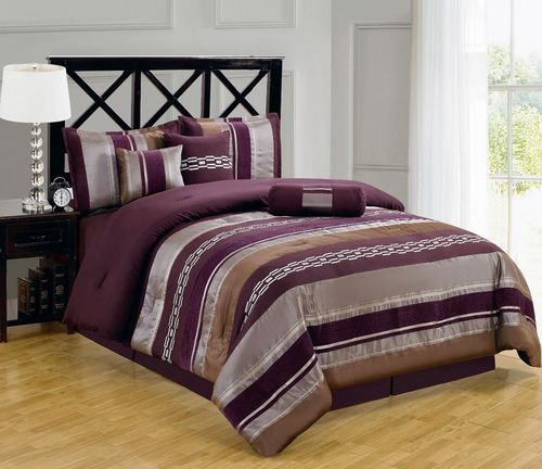 Claudia 7-11 Piece Purple Bed In A Bag