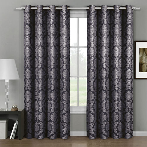 Aryanna Jacquard Grommet Top Curtain Panel Pair (set of 2)