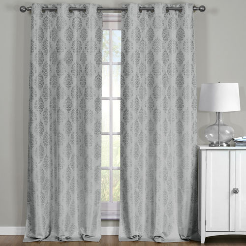 Paisley Thermal Blackout Grommet Curtain Panels (Set of 2)