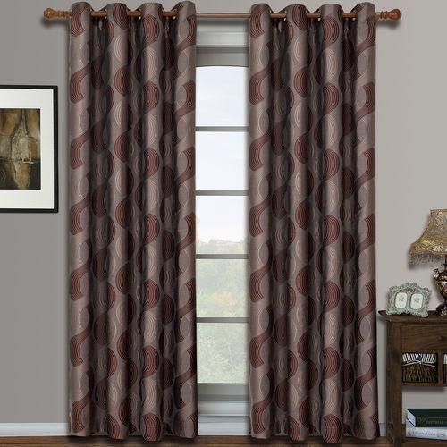 Savanna Pair (Set of 2) Jacquard Grommet Window Curtain Panels