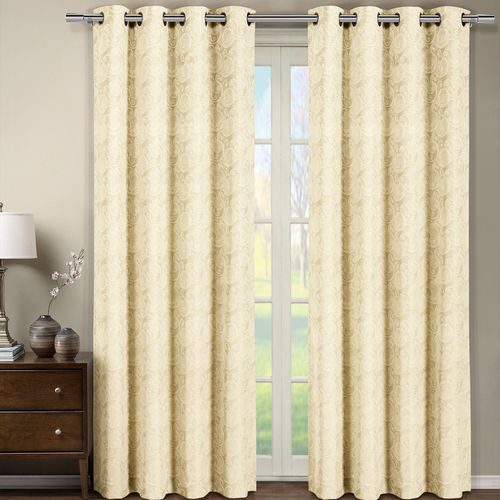 Tabitha Jacquard Grommet Top Curtain Panel (Single)