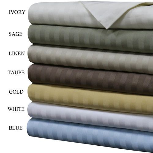 Olympic Queen 100% Cotton 1000 Thread Count Sheets Striped