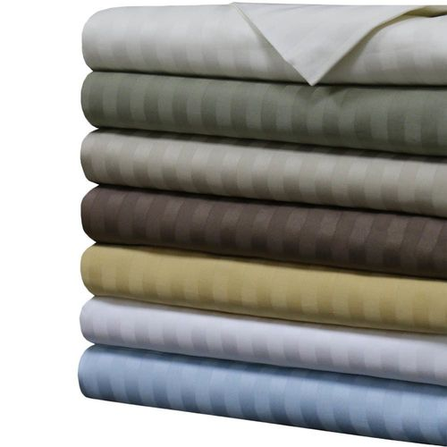 1000 Thread count Damask Stripe 100% Combed cotton Sheet Set
