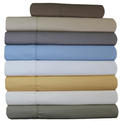 "Split California King /Adjustable 650TC Solid ""Cal-King"" Wrinkle-Free Sheets"