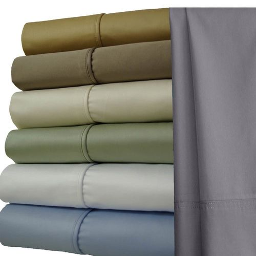 Split Top (Split Head) King Sheets 1000 Thread Count 100% Cotton Solid Sheet Sets
