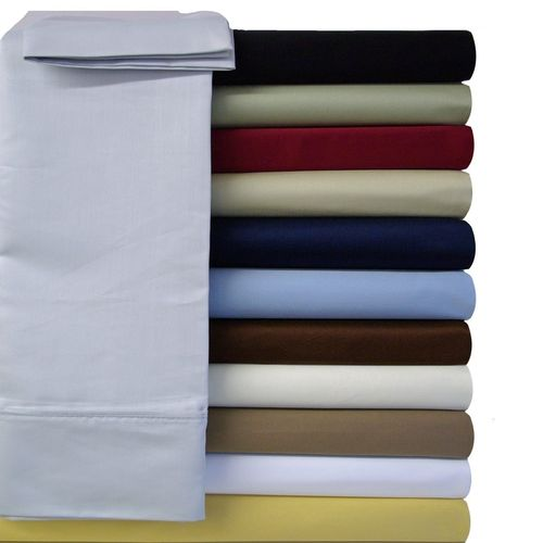Split King (Adjustable) Bed Sheets 100% Cotton 600 Thread Count Solid
