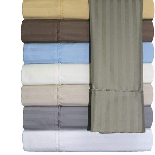 Wrinkle Free Striped 650 Combed Cotton Sheet Sets