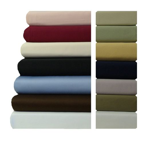 Unattached Waterbed CalKing Sheet Set Solid 600 Thread Count