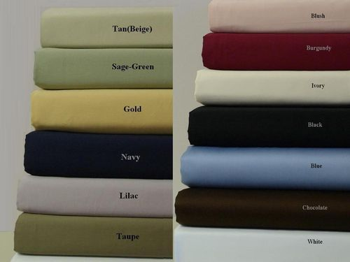 Unattached CalKing WaterbedSheets Solid 300 Thread Count