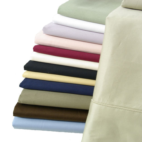 Pair Pillowcases 100% Cotton 550 Thread Count Solid