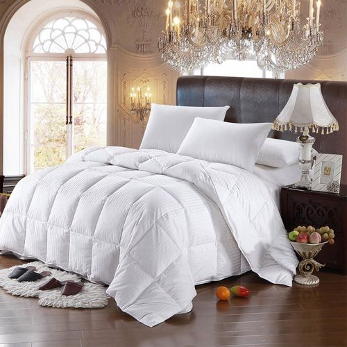Striped Goose Down 300TC Comforter image Striped Goose Down  Comforter Side image Striped Goose Do