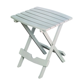 Folding Side Table for Outdoor or Patio Garden in Desert Clay Resin