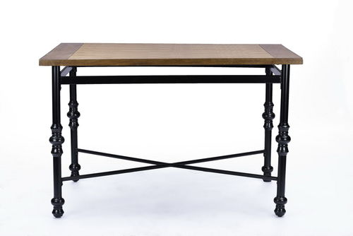 Baxton Studio Broxburn Light Brown Wood & Metal Dining Table