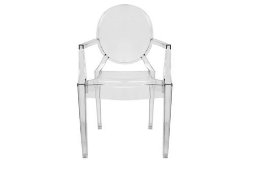 Baxton Studio Dymas Modern Acrylic Armed Ghost Chair