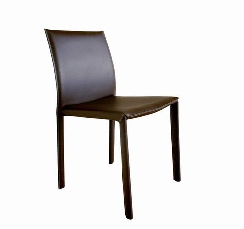 Baxton Studio Brown Burridge Leather Dining Chair - Set of 2